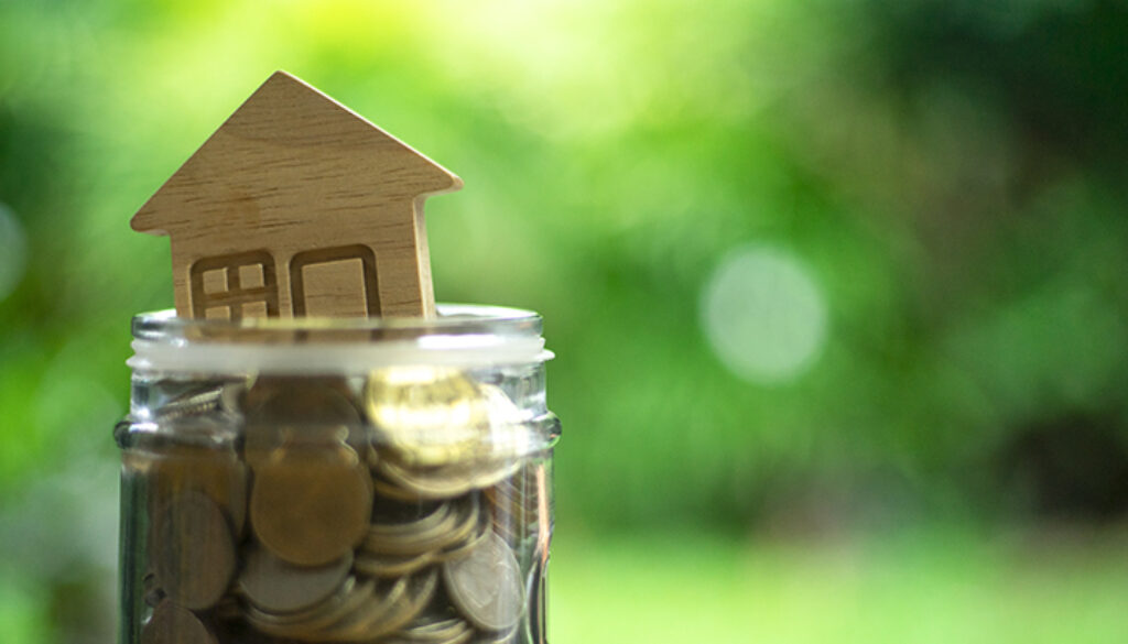 Savings plans for housing ,financial concept